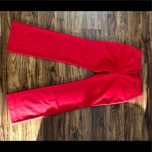 Red editor pant